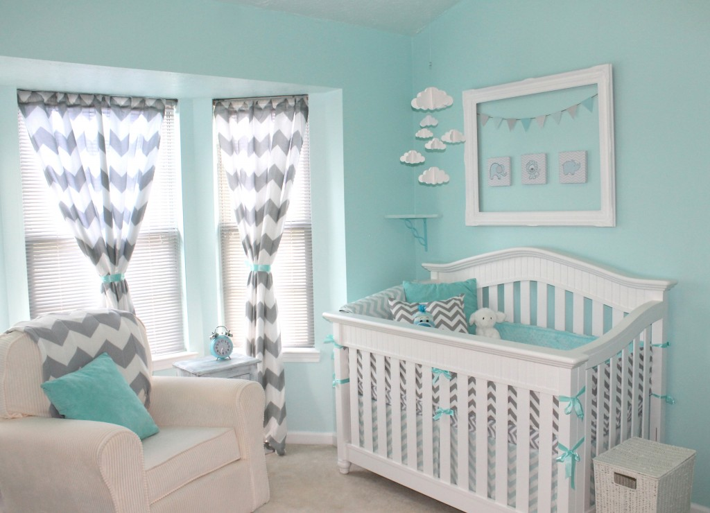 Gray & Aqua Nursery